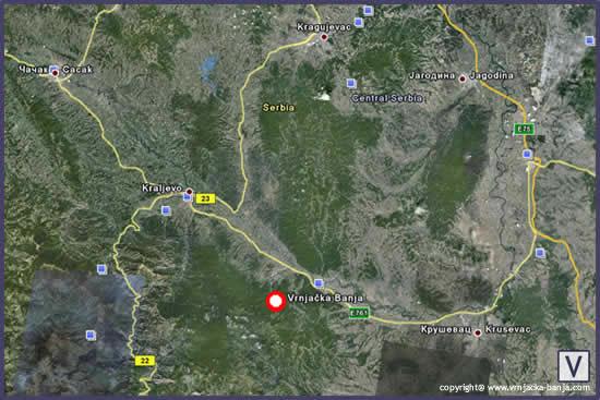 mapa srbije google maps Vrnjacka Banja | Geografski polozaj Vrnjacke Banje mapa srbije google maps